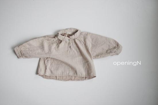 OPENING & - Korean Children Fashion - #Kfashion4kids - Ever Check Blouse - 4