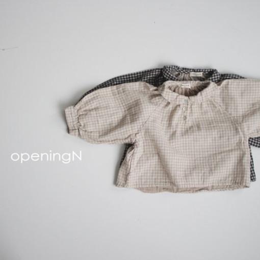 OPENING & - BRAND - Korean Children Fashion - #Kfashion4kids - Ever Check Blouse