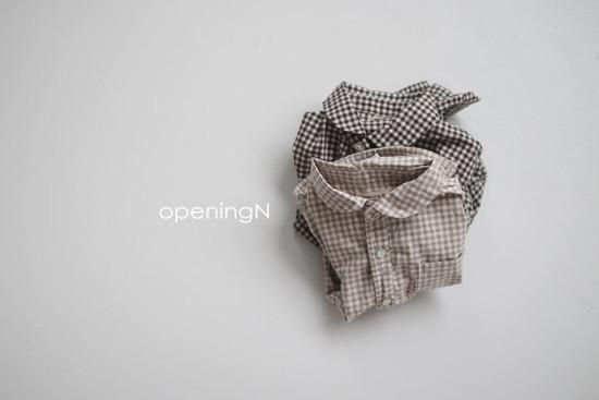 OPENING & - Korean Children Fashion - #Kfashion4kids - Oz Check Shirt