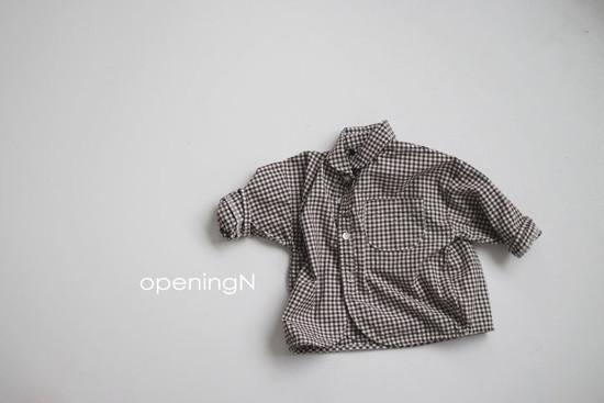 OPENING & - Korean Children Fashion - #Kfashion4kids - Oz Check Shirt - 2