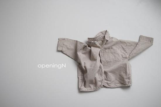 OPENING & - Korean Children Fashion - #Kfashion4kids - Oz Check Shirt - 3