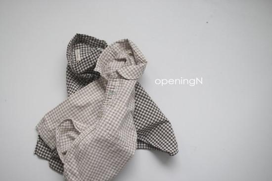 OPENING & - Korean Children Fashion - #Kfashion4kids - Oz Check Shirt - 4