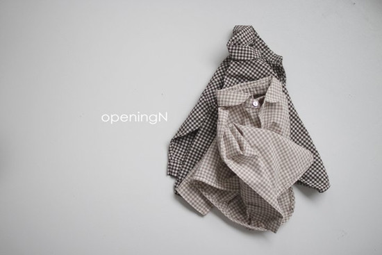 OPENING & - Korean Children Fashion - #Kfashion4kids - Oz Check Shirt - 5