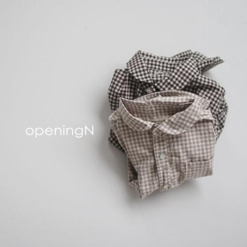 OPENING & - BRAND - Korean Children Fashion - #Kfashion4kids - Oz Check Shirt