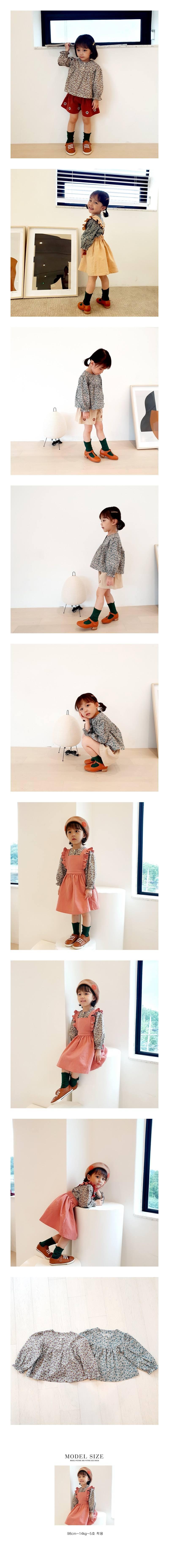 ORANGE MOM - Korean Children Fashion - #Kfashion4kids - Flower Print Blouse