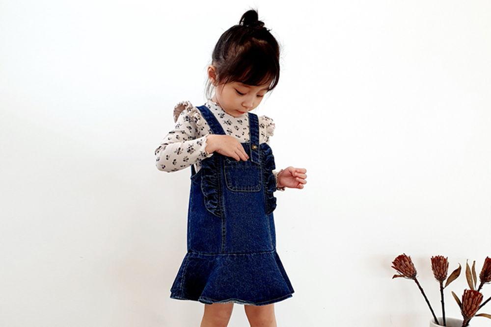 ORANGE MOM - BRAND - Korean Children Fashion - #Kfashion4kids - Span Denim Suspender One-piece