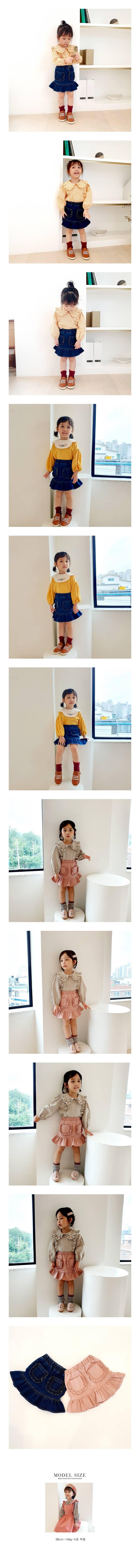 ORANGE MOM - Korean Children Fashion - #Kfashion4kids - Span Denim Skirt