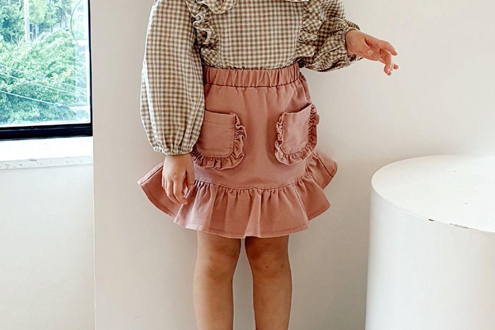 ORANGE MOM - BRAND - Korean Children Fashion - #Kfashion4kids - Span Denim Skirt