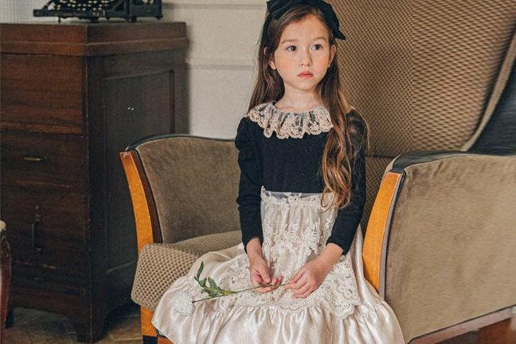 PINK BERRY - BRAND - Korean Children Fashion - #Kfashion4kids - Golden Apron One-piece
