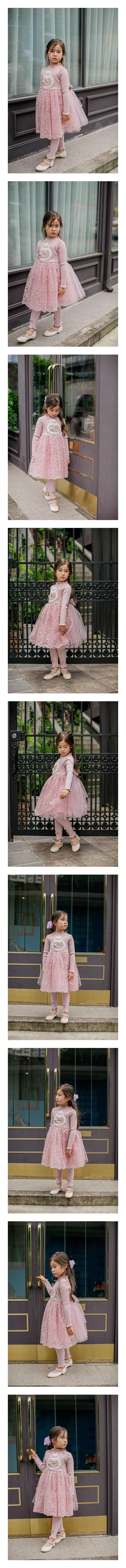 PUDDING - Korean Children Fashion - #Kfashion4kids - Flower Bag One-piece