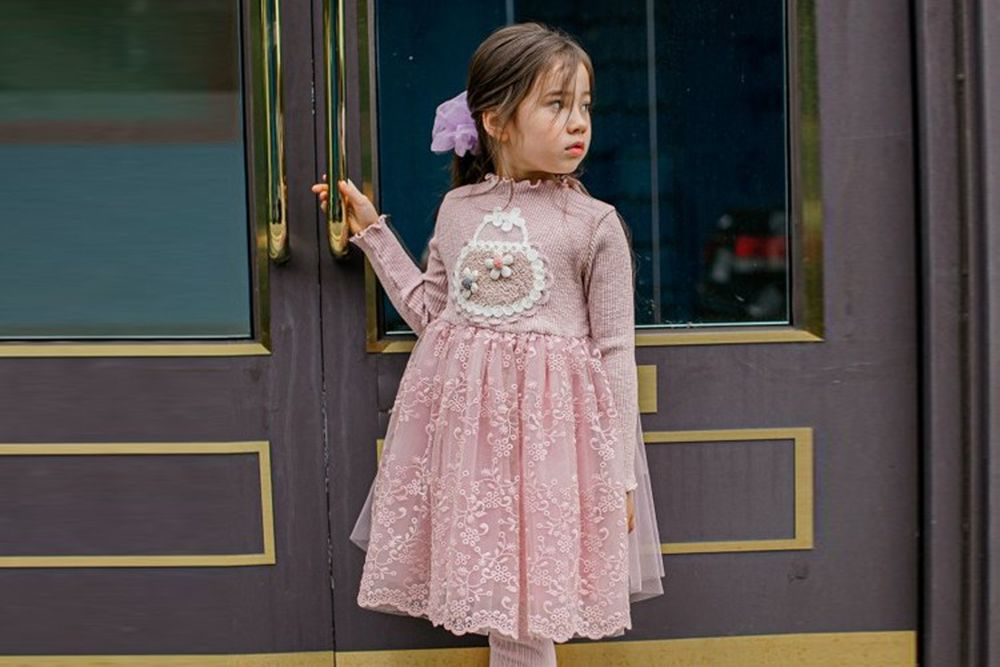 PUDDING - BRAND - Korean Children Fashion - #Kfashion4kids - Flower Bag One-piece