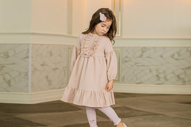 PUDDING - BRAND - Korean Children Fashion - #Kfashion4kids - Cotton Frill One-piece