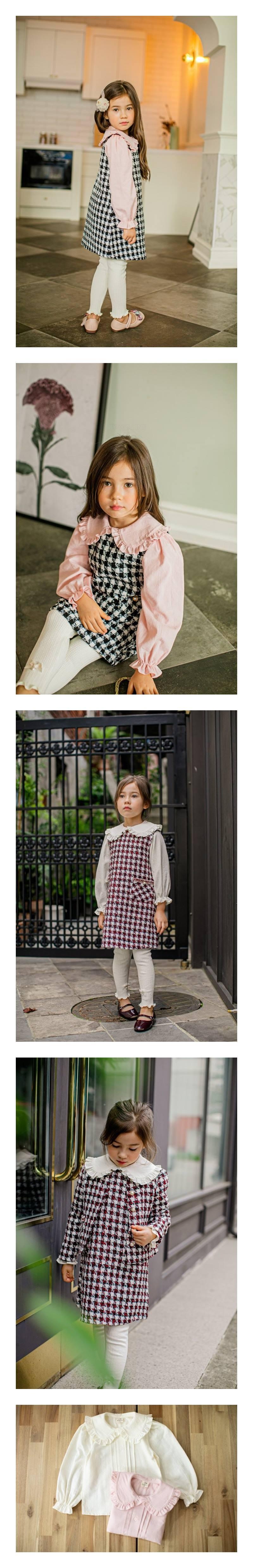 PUDDING - Korean Children Fashion - #Kfashion4kids - Collar Blouse