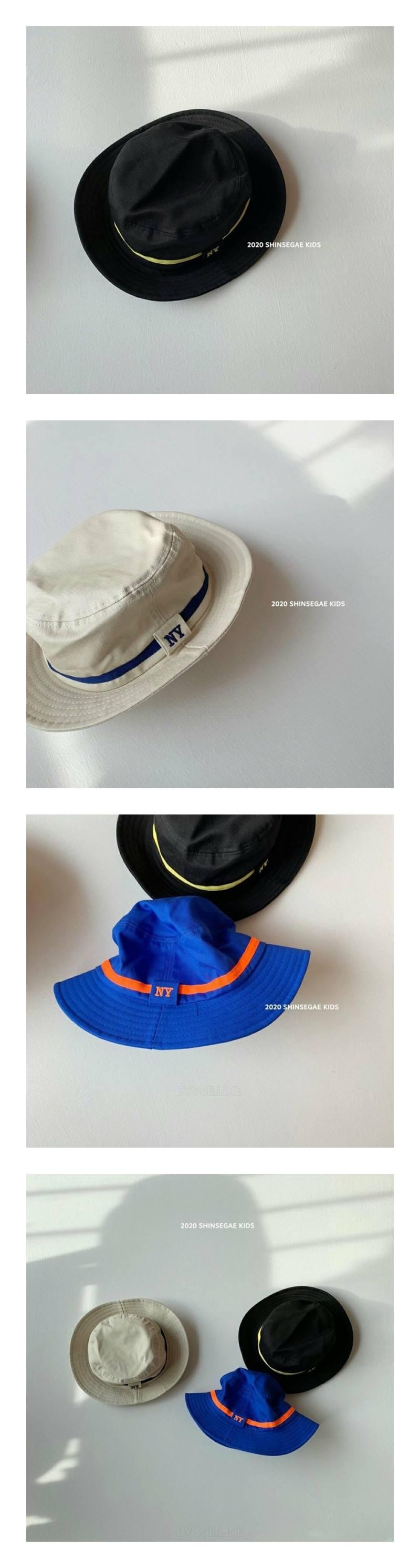SHINSEAGE KIDS - Korean Children Fashion - #Kfashion4kids - NY Line Bucket Hat