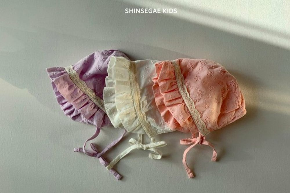 SHINSEAGE KIDS - BRAND - Korean Children Fashion - #Kfashion4kids - Lace Bonnet