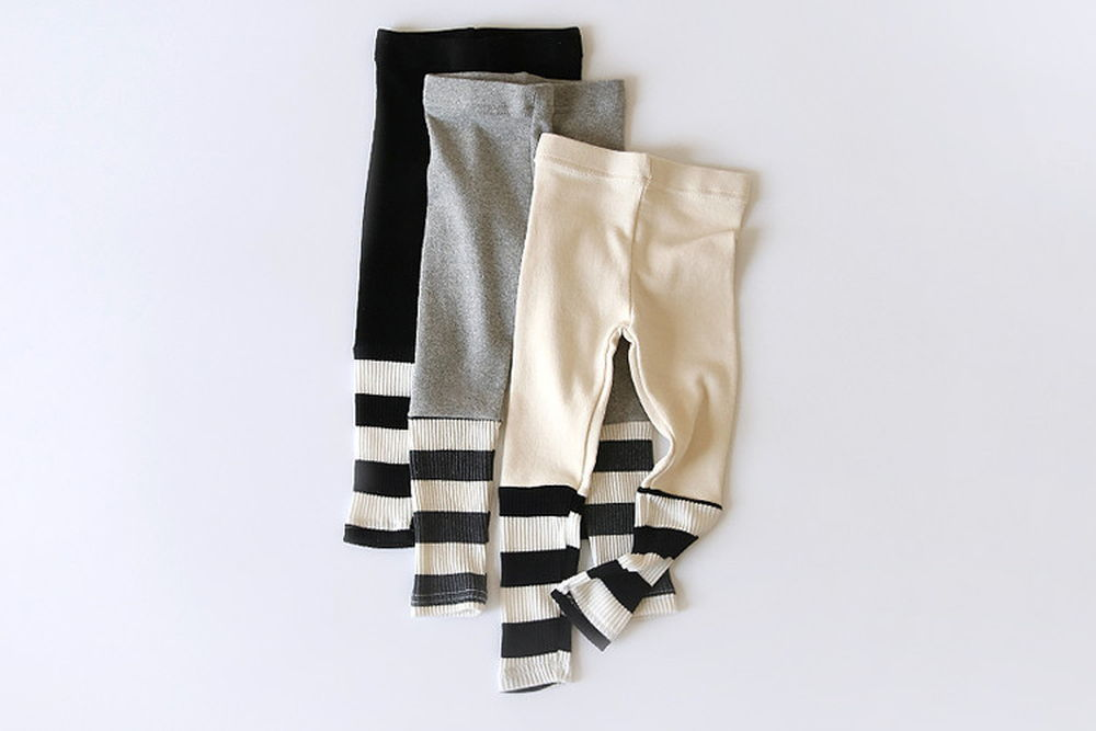 WHITESKETCHBOOK - BRAND - Korean Children Fashion - #Kfashion4kids - Stripe Colored Leggings