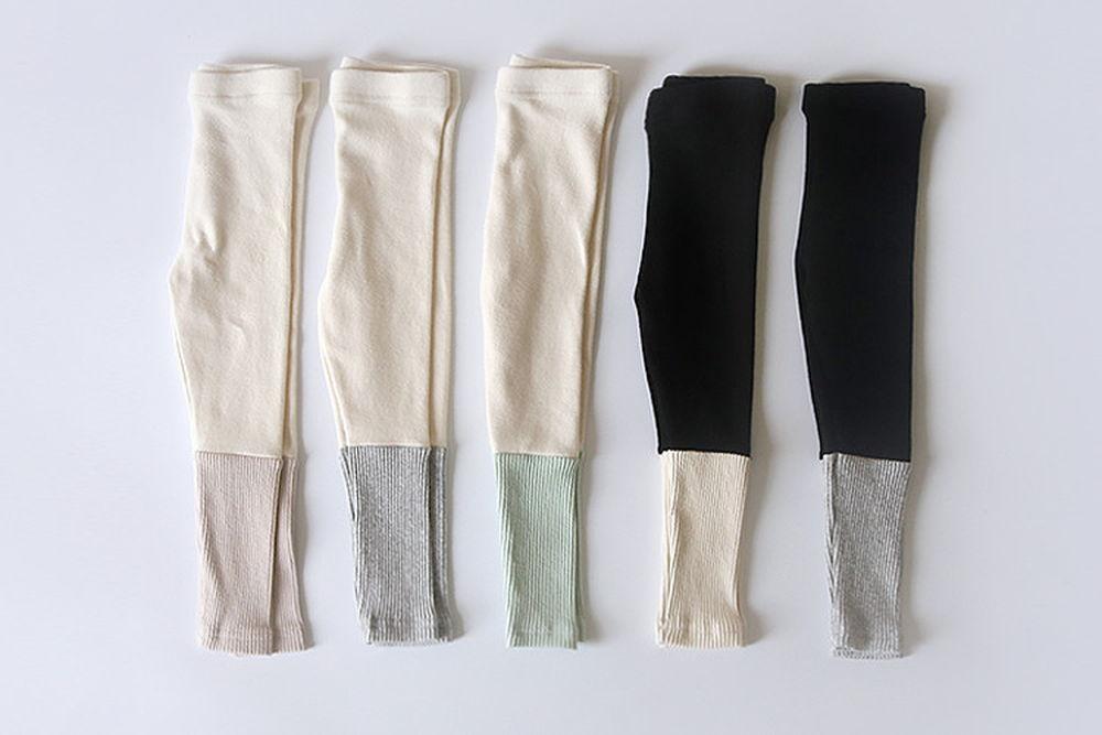 WHITESKETCHBOOK - BRAND - Korean Children Fashion - #Kfashion4kids - Rib Coloared Leggings