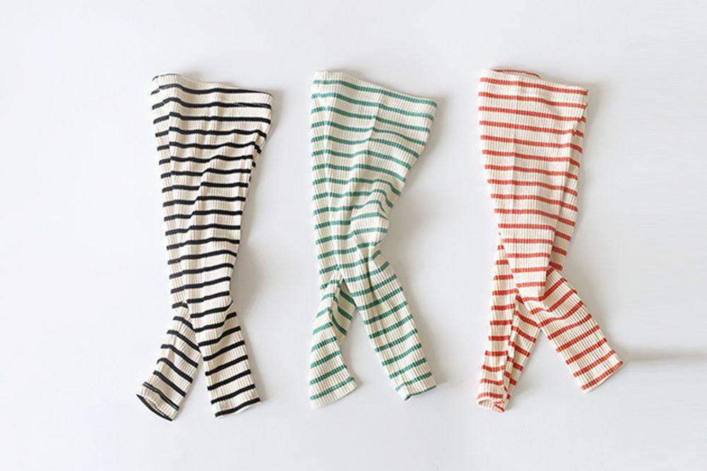 WHITESKETCHBOOK - BRAND - Korean Children Fashion - #Kfashion4kids - Stripe Rib Leggings