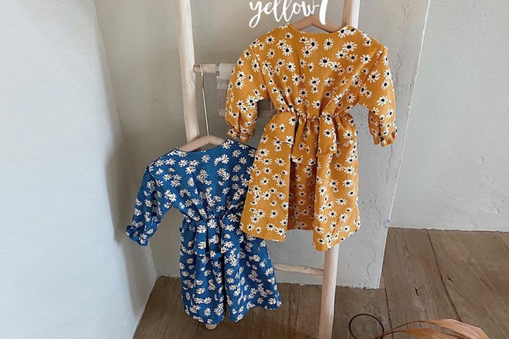 YELLOW FACTORY - BRAND - Korean Children Fashion - #Kfashion4kids - Blossom One-piece