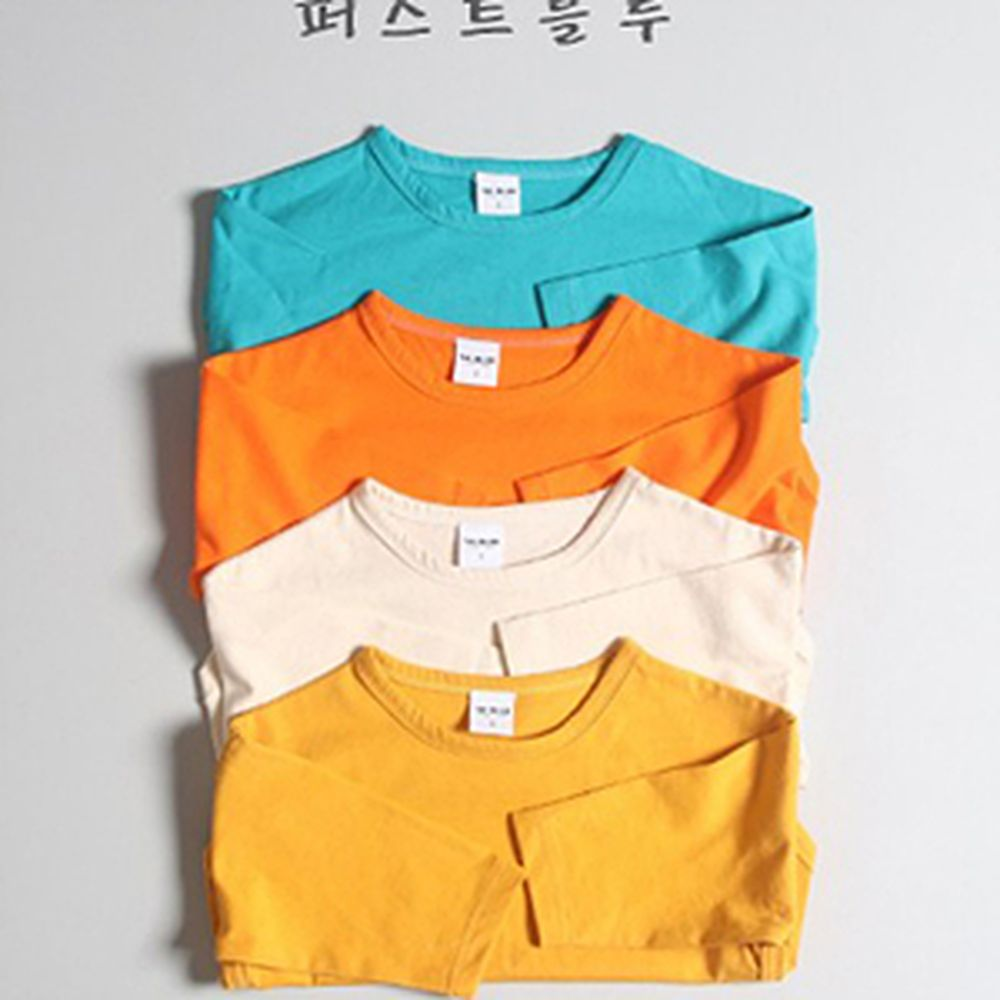 1ST BLUE - BRAND - Korean Children Fashion - #Kfashion4kids - Basic Single Tee