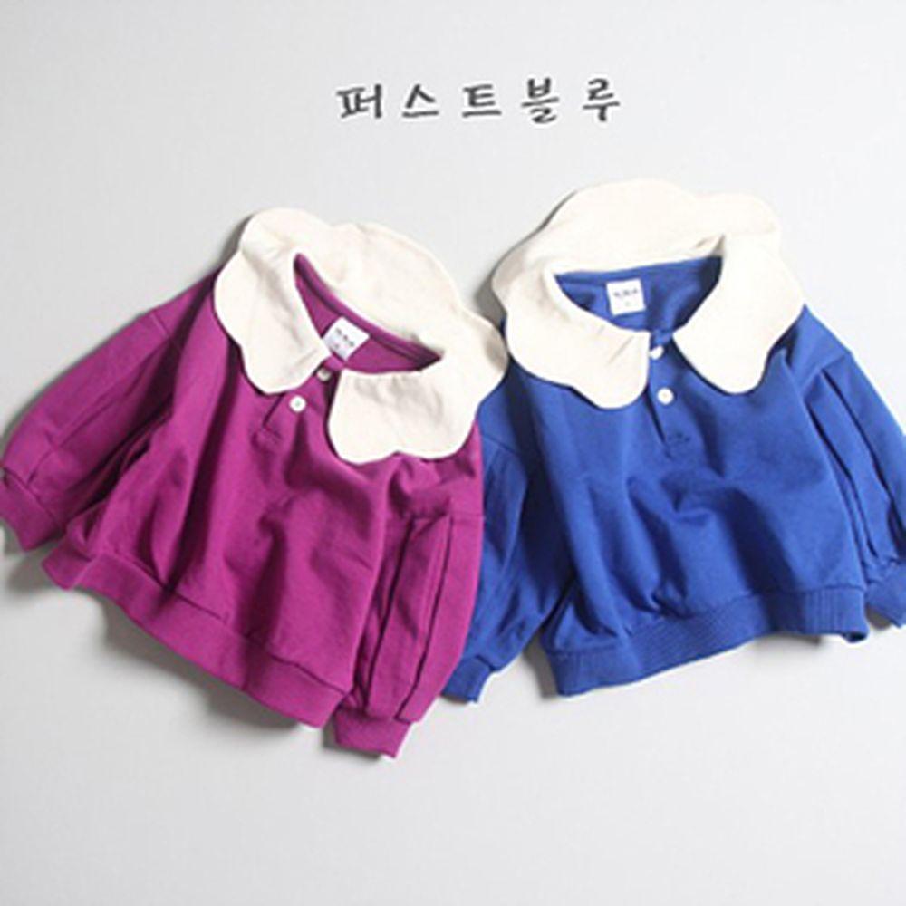 1ST BLUE - BRAND - Korean Children Fashion - #Kfashion4kids - Cloud Wave Collar MTM