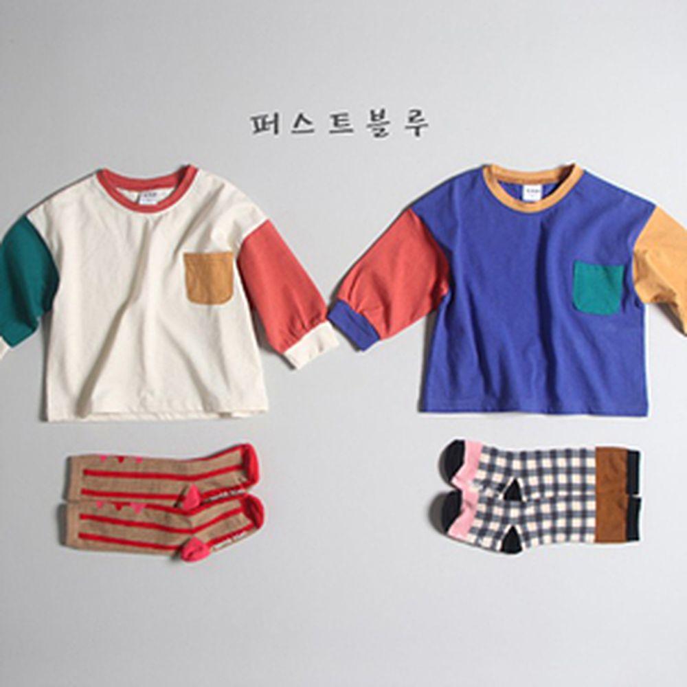 1ST BLUE - BRAND - Korean Children Fashion - #Kfashion4kids - Colored Single Tee
