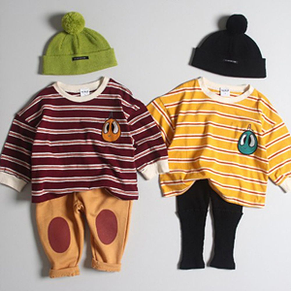 1ST BLUE - BRAND - Korean Children Fashion - #Kfashion4kids - Loose Stripe Tee