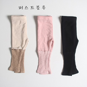 1ST BLUE - BRAND - Korean Children Fashion - #Kfashion4kids - Half Rib Leggings
