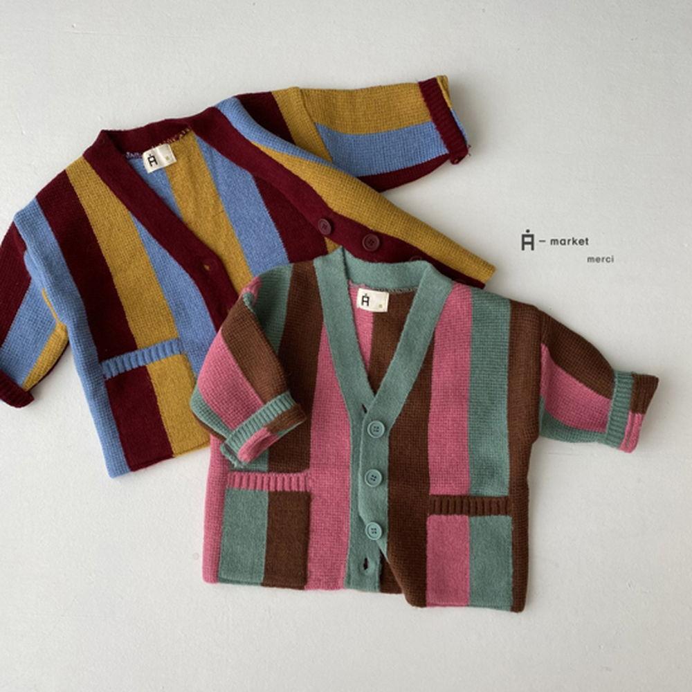 A-MARKET - Korean Children Fashion - #Kfashion4kids - Rainbow Cardigan