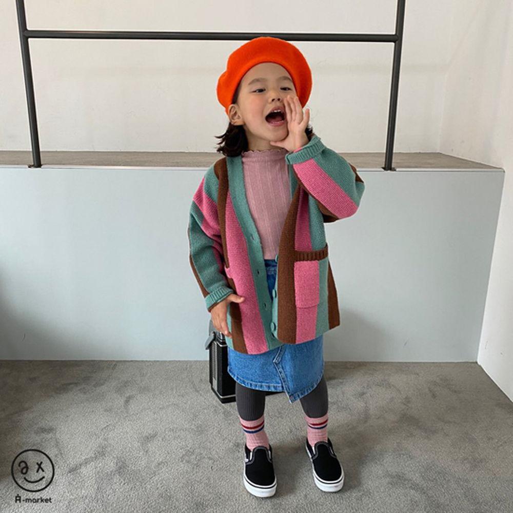 A-MARKET - Korean Children Fashion - #Kfashion4kids - Rainbow Cardigan - 4