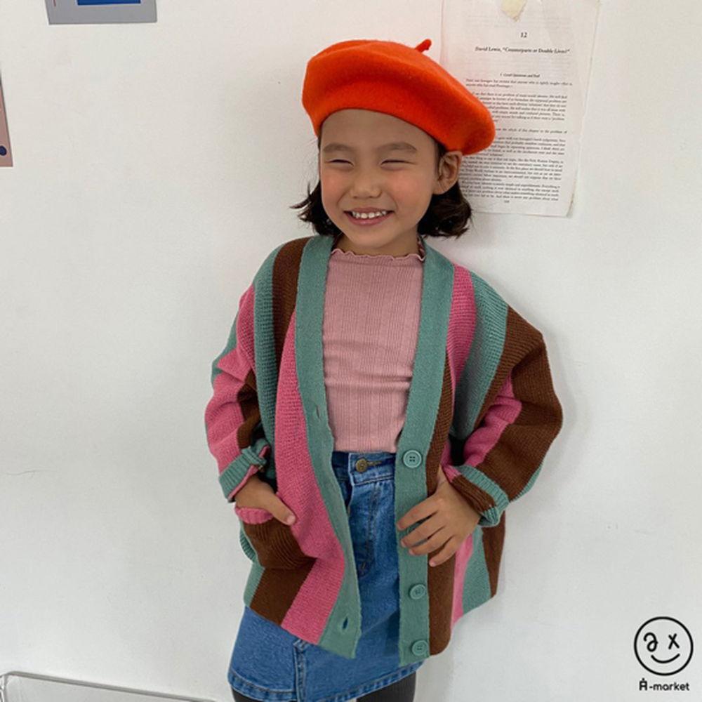 A-MARKET - Korean Children Fashion - #Kfashion4kids - Rainbow Cardigan - 6