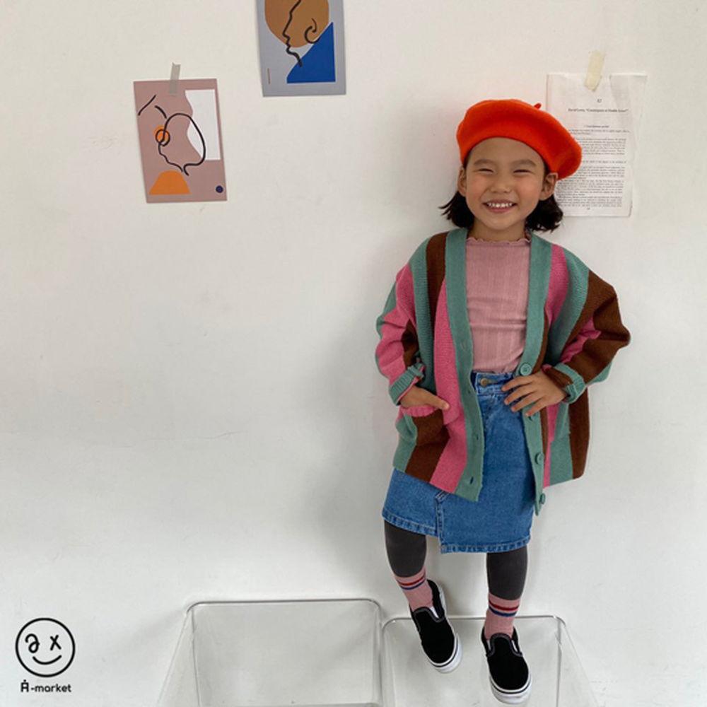 A-MARKET - Korean Children Fashion - #Kfashion4kids - Rainbow Cardigan - 7