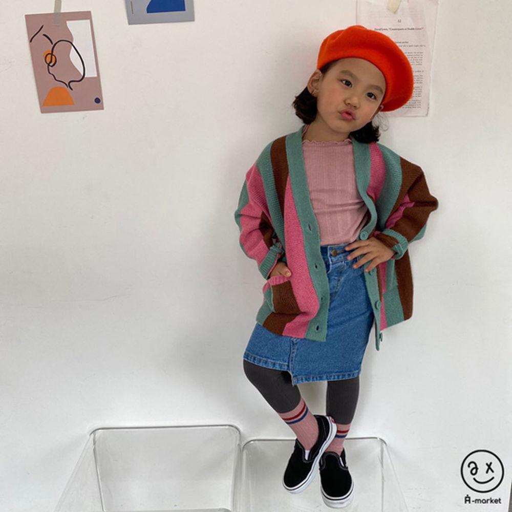 A-MARKET - Korean Children Fashion - #Kfashion4kids - Rainbow Cardigan - 8