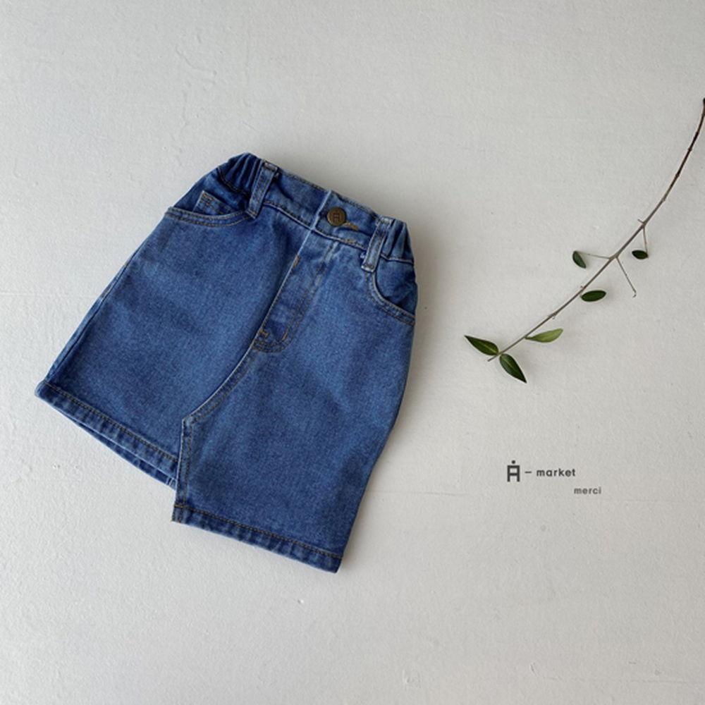 A-MARKET - Korean Children Fashion - #Kfashion4kids - Unbalance Denim Skirt