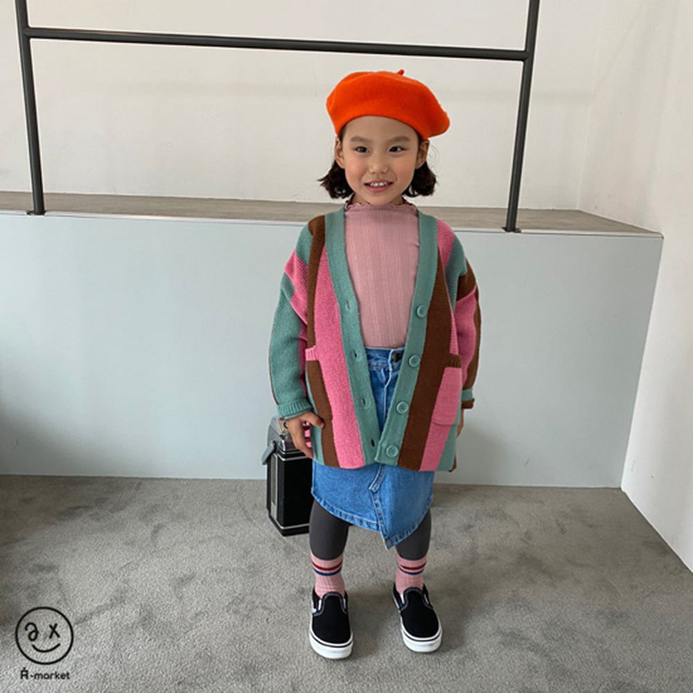 A-MARKET - Korean Children Fashion - #Kfashion4kids - Unbalance Denim Skirt - 8