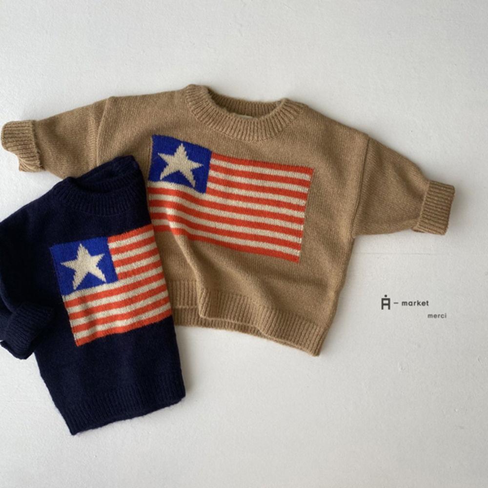 A-MARKET - Korean Children Fashion - #Kfashion4kids - USA Knit Pullover