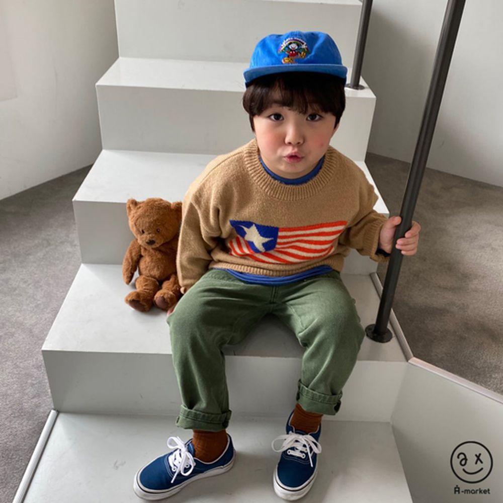 A-MARKET - Korean Children Fashion - #Kfashion4kids - USA Knit Pullover - 12