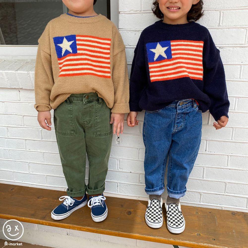 A-MARKET - Korean Children Fashion - #Kfashion4kids - USA Knit Pullover - 2