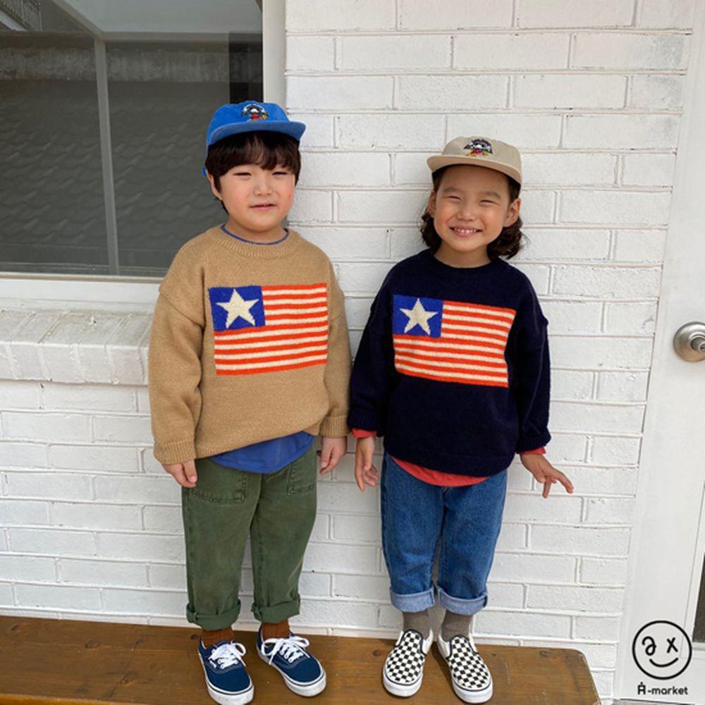A-MARKET - Korean Children Fashion - #Kfashion4kids - USA Knit Pullover - 4