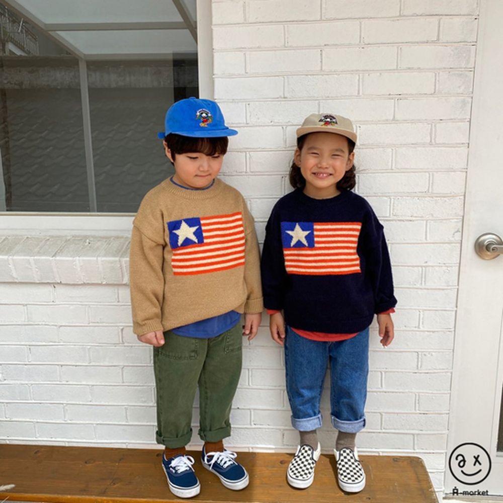 A-MARKET - Korean Children Fashion - #Kfashion4kids - USA Knit Pullover - 5