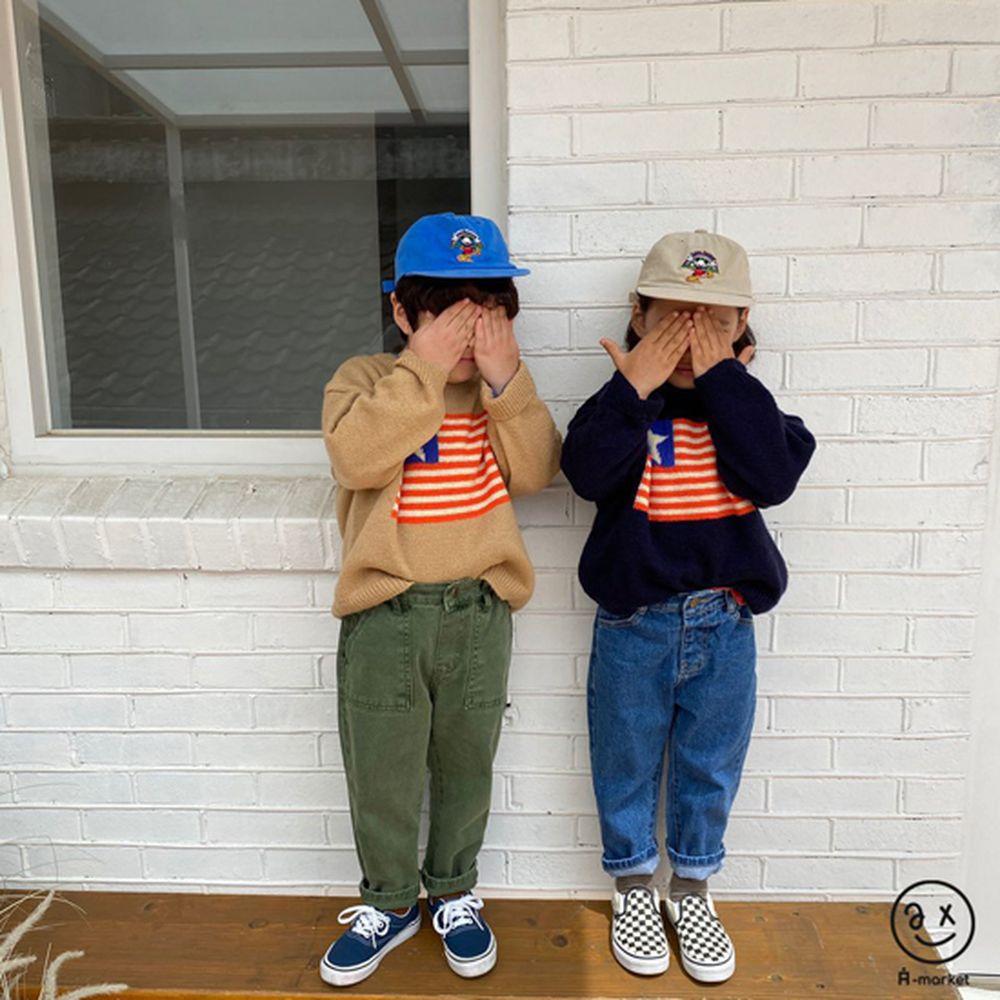 A-MARKET - Korean Children Fashion - #Kfashion4kids - USA Knit Pullover - 7