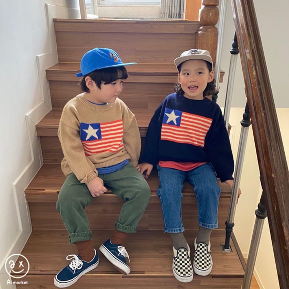 A-MARKET - Korean Children Fashion - #Kfashion4kids - USA Knit Pullover - 8