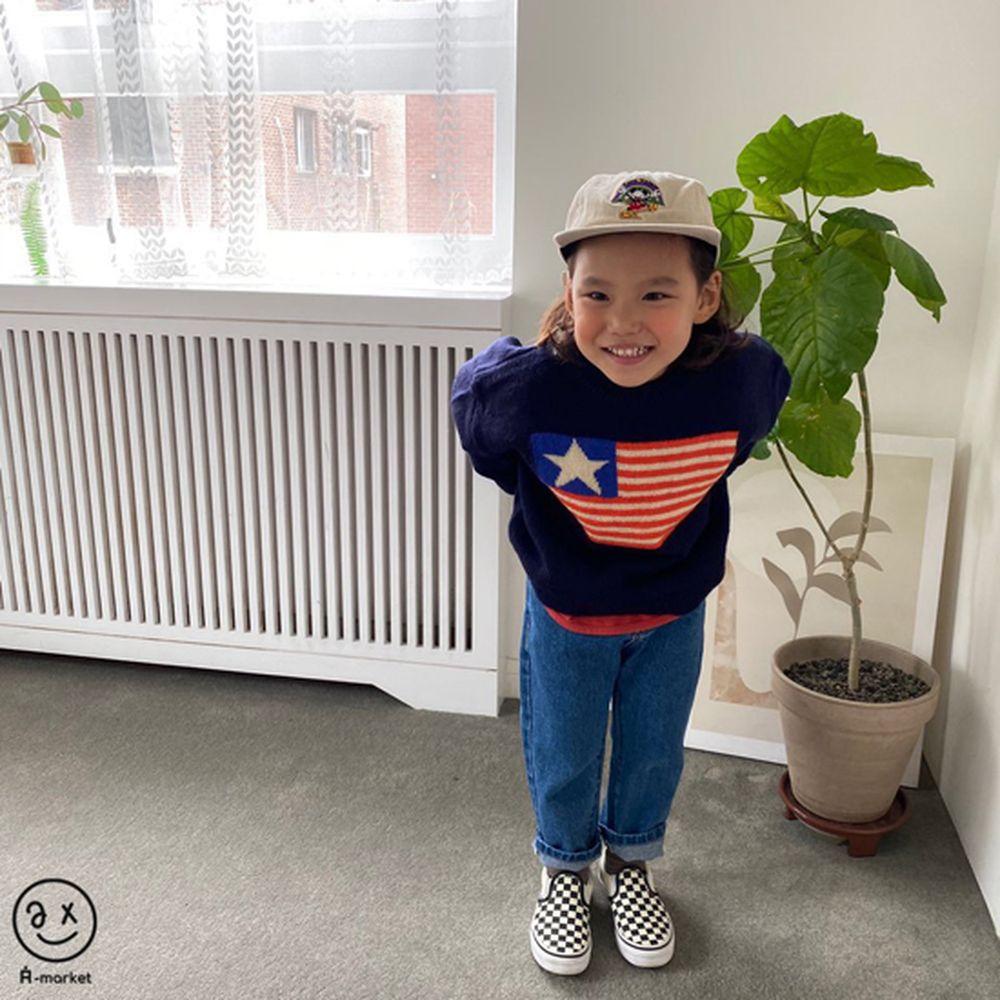 A-MARKET - Korean Children Fashion - #Kfashion4kids - USA Knit Pullover - 9
