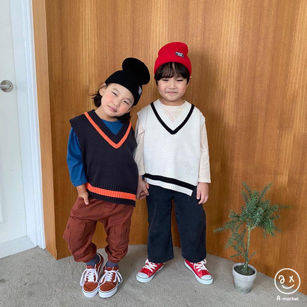 A-MARKET - Korean Children Fashion - #Kfashion4kids - Diagonal Line Vest - 10
