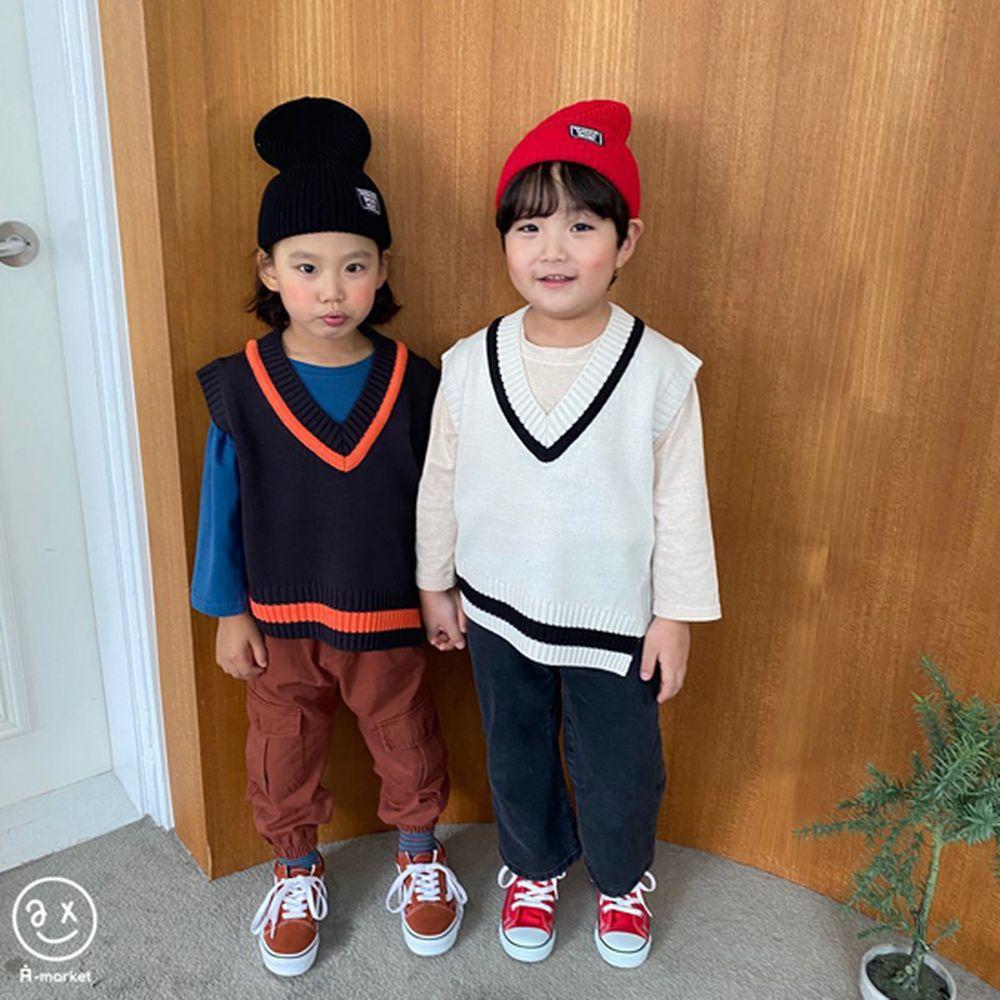 A-MARKET - Korean Children Fashion - #Kfashion4kids - Diagonal Line Vest - 11
