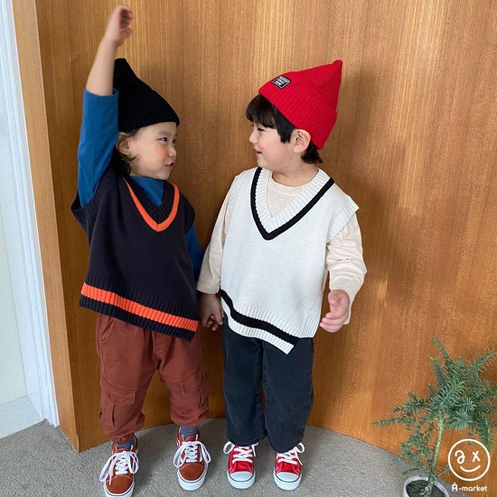 A-MARKET - Korean Children Fashion - #Kfashion4kids - Diagonal Line Vest - 12