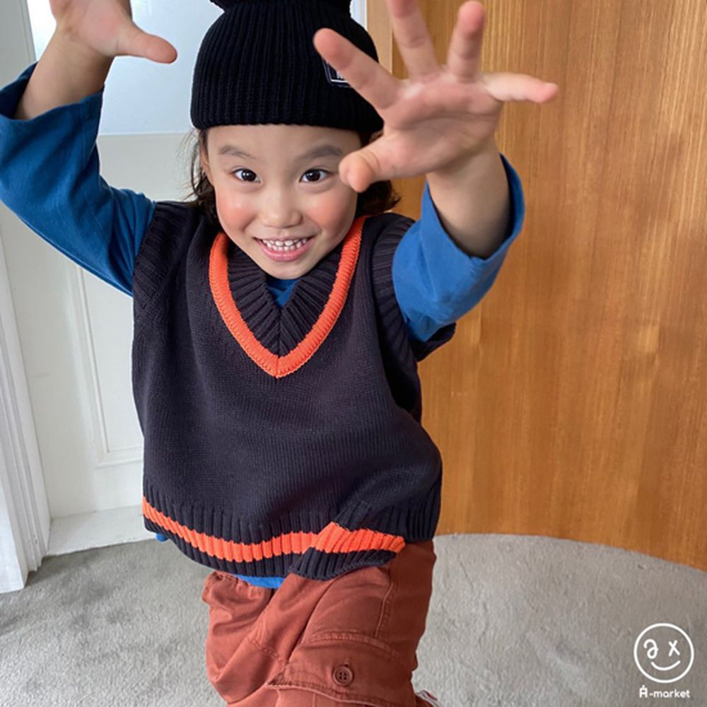 A-MARKET - Korean Children Fashion - #Kfashion4kids - Diagonal Line Vest - 3