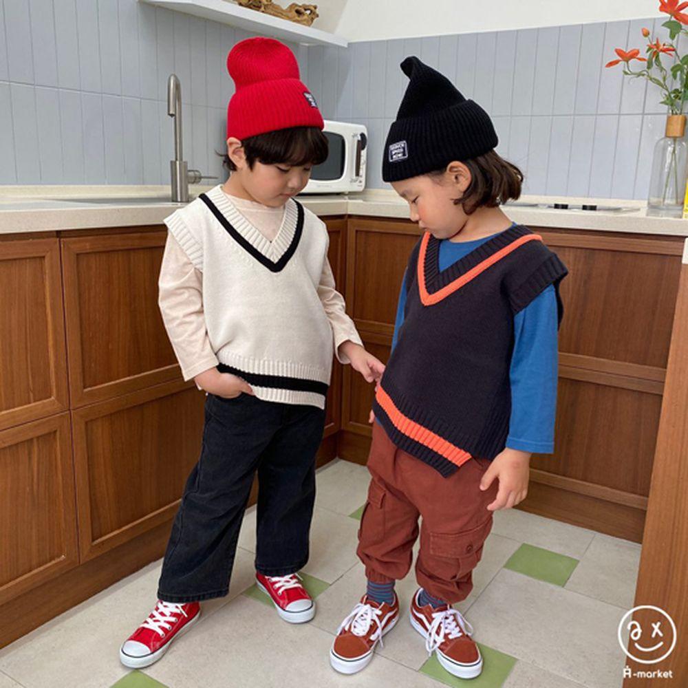 A-MARKET - Korean Children Fashion - #Kfashion4kids - Diagonal Line Vest - 4