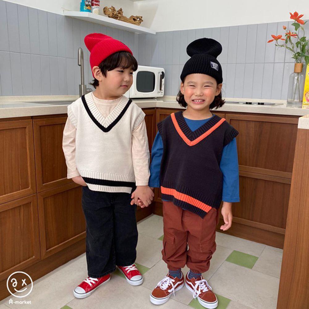 A-MARKET - Korean Children Fashion - #Kfashion4kids - Diagonal Line Vest - 5