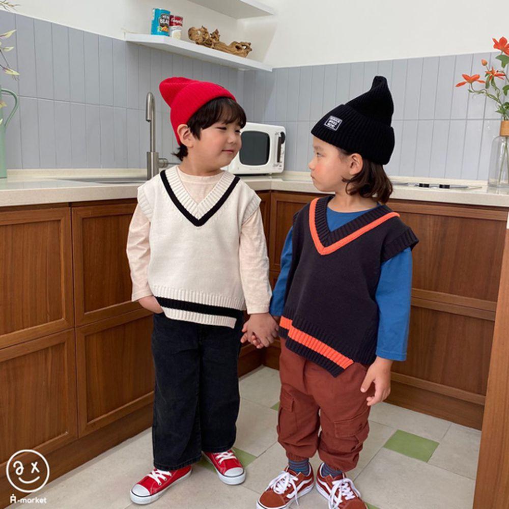 A-MARKET - Korean Children Fashion - #Kfashion4kids - Diagonal Line Vest - 6